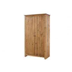 Havana 2 Door Wordrobe, Internal Shelf, Contemporary Style, Aztec Wax Colour Tones