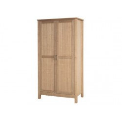 Oakridge 2 Door Wardrobe, Internal Shelf, Real Ash Veneer With Oak Finish, Suits Any Style