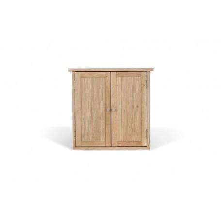 Ocean 2 Door Wall Cabinet, Elegant Style, Solid Oak