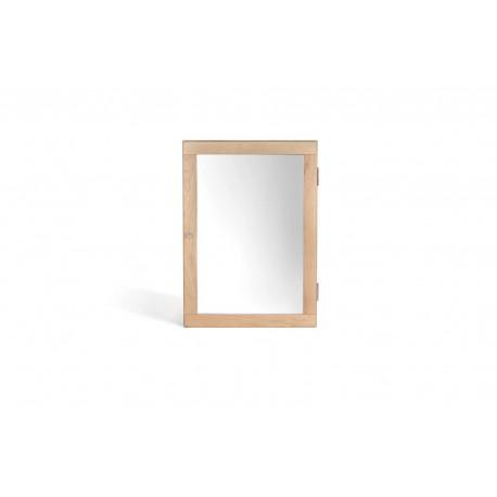 Ocean 1 Door Mirrored Wall Cabinet, Elegant Style, Solid Oak