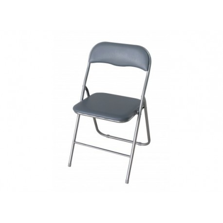 Folding Desk Chair, Silver