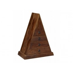 Darjeeling Triangle Unit, 4 Drawers, Suites Moden Or Traditional Style, Solid Sheesham Wood