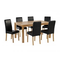 Oakridge Large Table, Ash Venered With Oak Finish