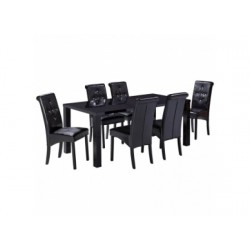 Monroe Large Dining Table, High Gloss Black