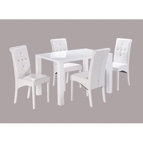 Monroe Medium Dining Table, High Gloss White