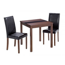 Walnut Ashleigh Small Size Table with Glass Strip