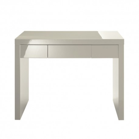 Puro Dressing Table/Desk, 1 Drawer, Sleek Contemporary Style, High Gloss Stone