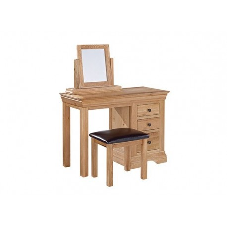 Worthing Solid American White Oak Dressing Table Mirror