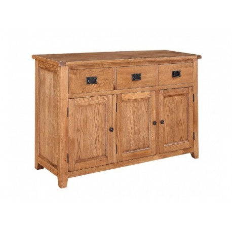 Dorset Large Sideboard, 3 Drawer + 3 Doors, American White Oak & Oak Veneers
