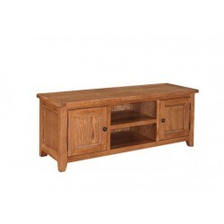 Dorset TV Stand/Unit, 2 Doors + Shelf, Subtle Round Corners, Oak Veneers And American White Oak