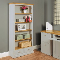 Chadwick Large Bookcase With Two Drawers