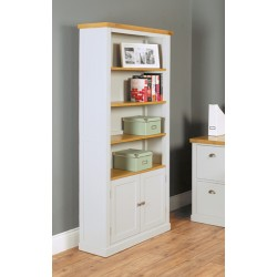 Chadwick Large Bookcase With Cupboard