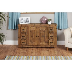 Heyford Rough Sawn Oak Six Drawer Sideboard