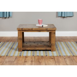 Heyford Rough Sawn Oak Open Coffee Table