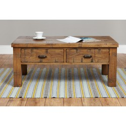 Heyford Rough Sawn Oak Four Drawer Coffee Table