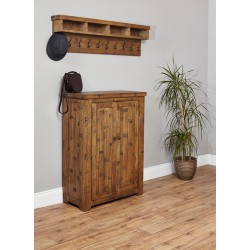 Heyford Rough Sawn Oak Shoe Cupboard