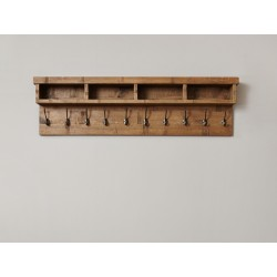 Heyford Rough Sawn Oak Wall Mounted Coat Rack