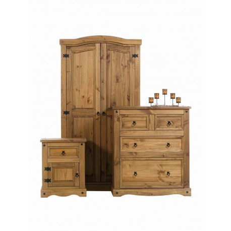 Bedroom Furniture Set - Wardrobe- Chest Drawers- Bedside Premium Corona