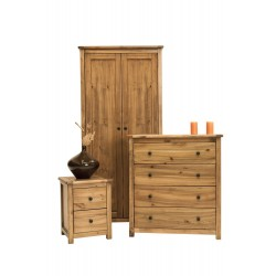 Denver Trio Bedroom set with Wardrobe, Chest of Drawers and Bedside Cabinet