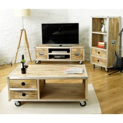Roadie Chic Open Coffee Table (with drawers)