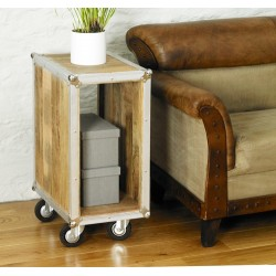 Roadie Chic Lamp Table / Bedside Table (open)
