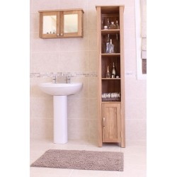 Mobel Oak Wall Mounted Bathroom Cabinet (Large)
