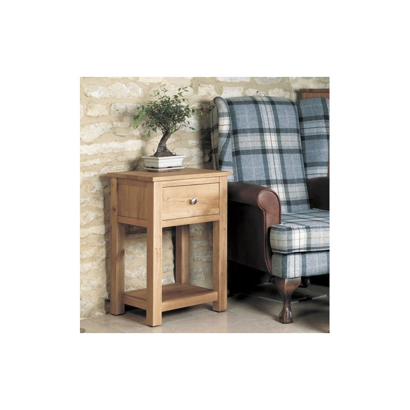 mobel oak one drawer lamp table loading zoom