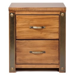 Forge 2 Drawer Bedside Cabinet
